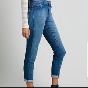 Free People 🦋 high rise roller skinny jeans